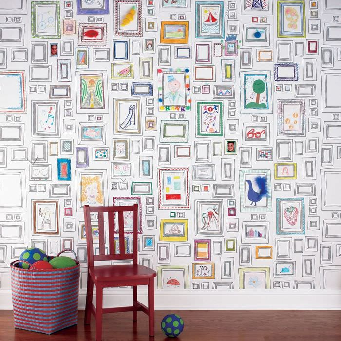 Роспись стен в детской комнате своими руками