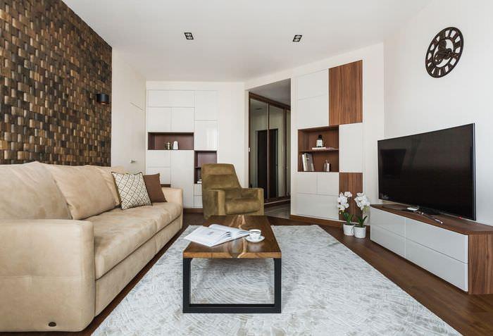 Современная гостиная в панельном доме