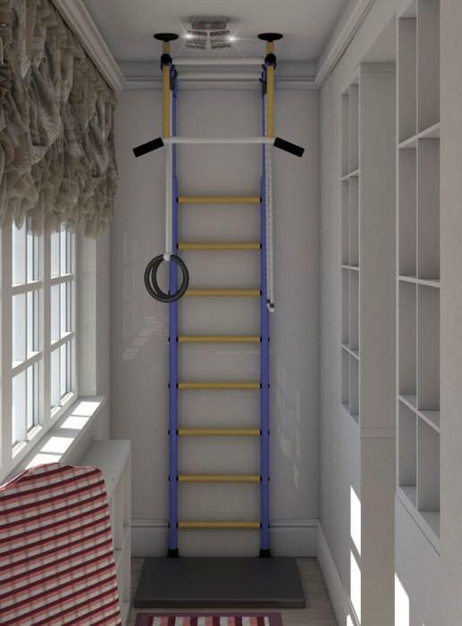 одним дизайн фото балкон с лестницей пробежка