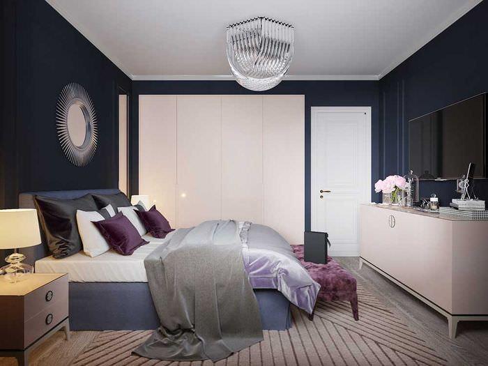 Интерьер комнаты площадью 14 квадратов в стиле арт-деко