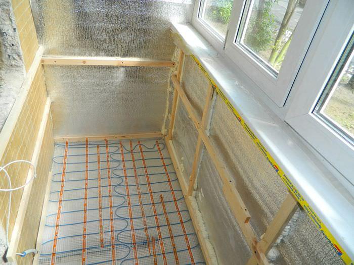 Устройство электрического теплого пола на балконе своими руками