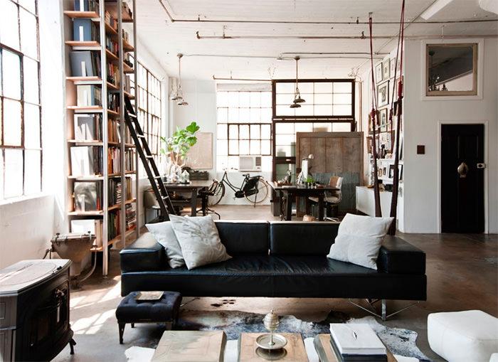 Интерьер городской квартиры в индустриальном стиле