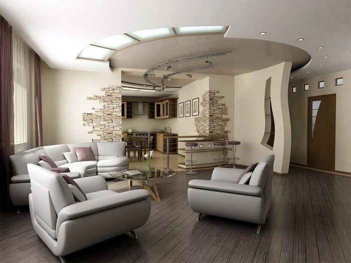 Удобные кресла в интерьере однокомнатной квартиры