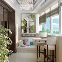 Оформление балкона в стиле модерн