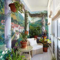 Художественная роспись балконных стен
