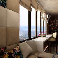 Обустройство жилой комнаты на теплом балконе