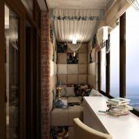 Дизайн балкона в кирпичной многоэтажке