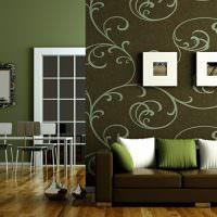 Декоративные подушки белого и зеленого цветов
