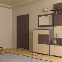Зеркало в составе мебельного гарнитура для прихожей