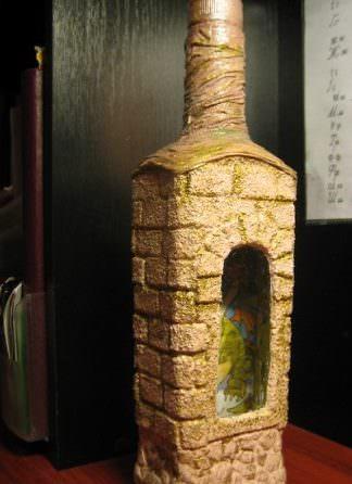 Декор подарочной бутылки на 23 февраля