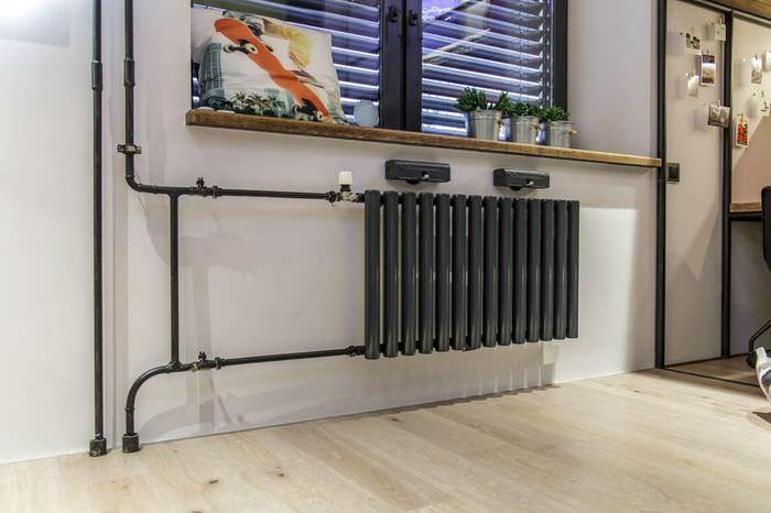 Как спрятать газовую трубу на кухне, обрезать или перенести – что ... | 533x800
