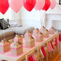 Оформление большого стола для детского праздника