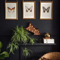 Три бабочки на модульных картинах