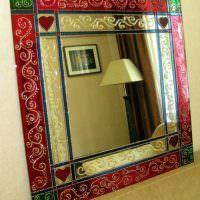 Роспись зеркала акриловыми красками
