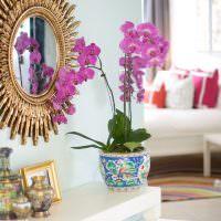 Декор цветочного горшка акварельными красками