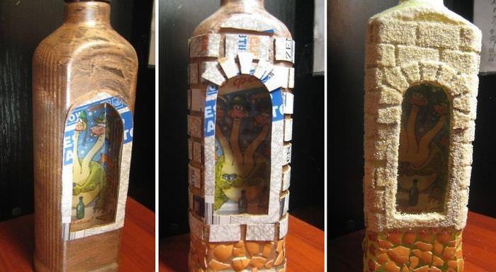 Мастер-класс по декору стеклянной бутылки своими руками