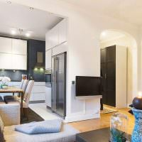 Обустройство кухни гостиной в двухкомнатной квартире