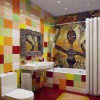 Дизайн ванной комнаты в африканском стиле
