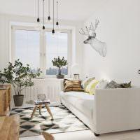 Небольшая комната в скандинавском стиле