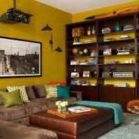 Корпусная мебель в интерьере современной гостиной