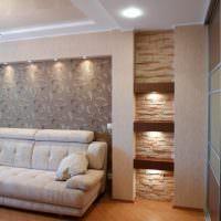Ниши в стене с декоративной подстветкой