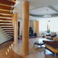 Интерьер гостиной круглой формы