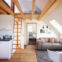 Дизайн квартиры в мансардном помещении