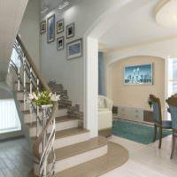 Дизайн первого этажа двухуровневой квартиры