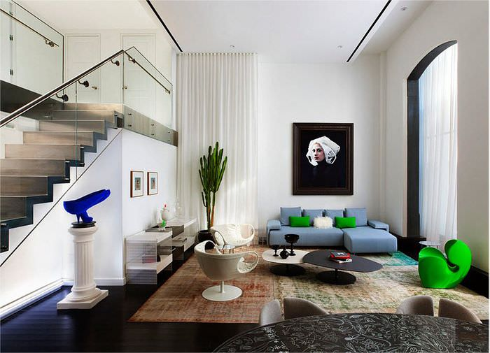Дизайн двухуровневой квартиры в стиле минимализма