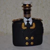 Бутылка в кителе для подарка мужчине