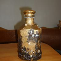 Декор бутылки монетами своими руками