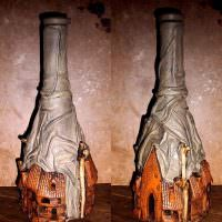 Красивое оформление винных бутылок