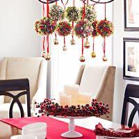 Декор обеденного стола к празднику