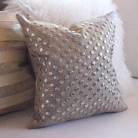 Декоративная подушка с блесками своими руками