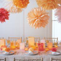 Красивое оформление праздничного стола своими руками
