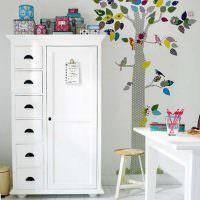 Декорирование стены в детской комнате