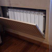 Откидной экран радиатора отопления