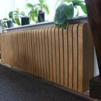деревянный экран на длинной батарее
