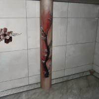 Оформление трубы в ванной своими руками