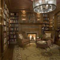 Уютная атмосфера в комнате с коллекцией книг