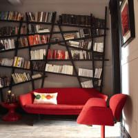 Нестандартный подход к хранению книг