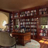 Интерьер домашнего кабинета в английском стиле