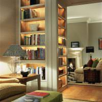 Ниши с подсветкой для любимых книг