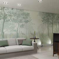 Декорирование стены художественной росписью