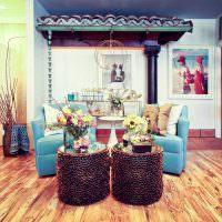 Интерьер гостиной в стиле дизайнерского китча