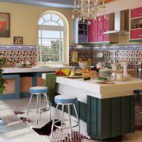 Интерьер кухни в восточном стиле