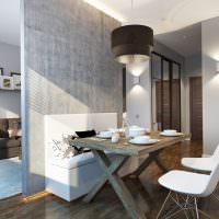 Серый цвет в дизайне кухни
