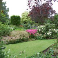 Пейзажный сад с английским газоном