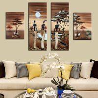 Африканские мотивы на модульных картинах