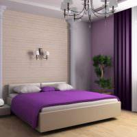 Использование фиолетового цвета в дизайне спальни